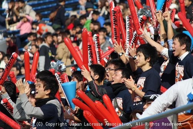 神戸大学応援席